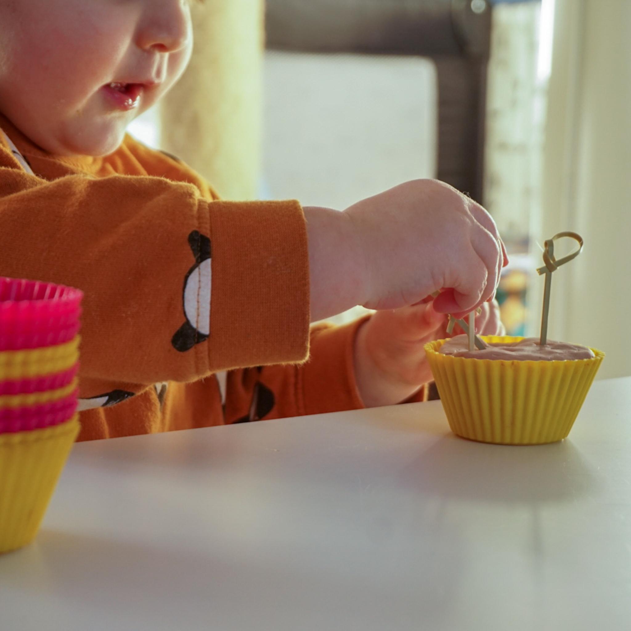 Play dough recept & cupcake speeltip
