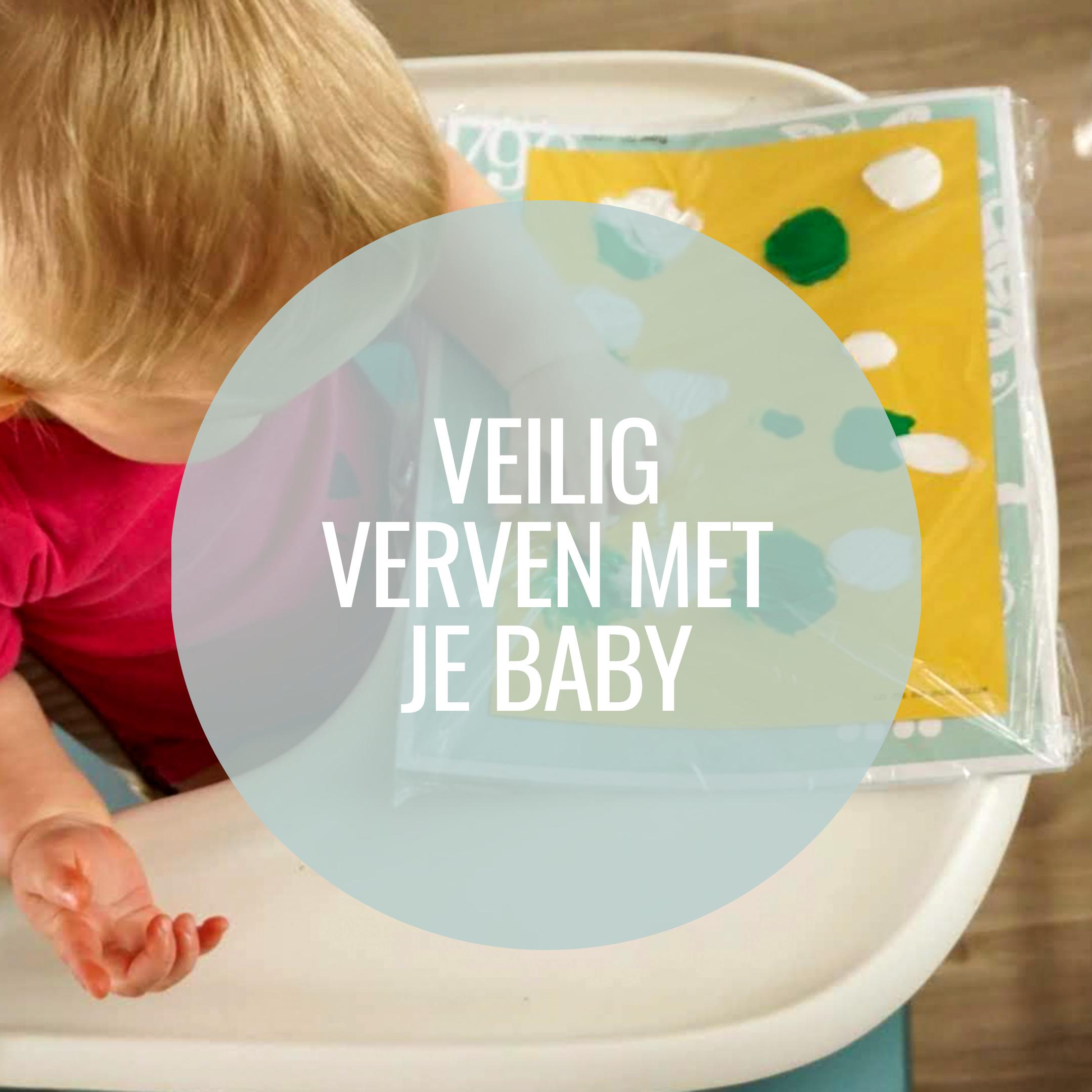 Veilig verven met je baby