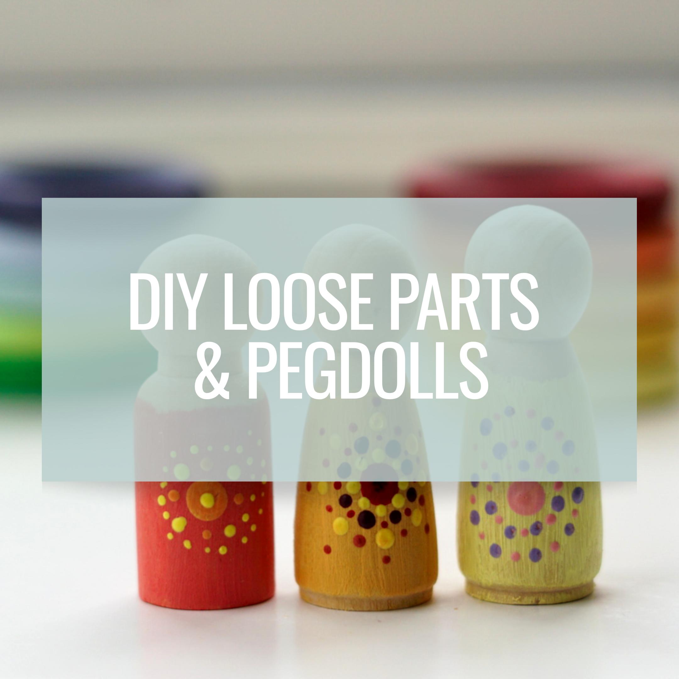 DIY loose parts & pegdolls zoals grapat & grimms