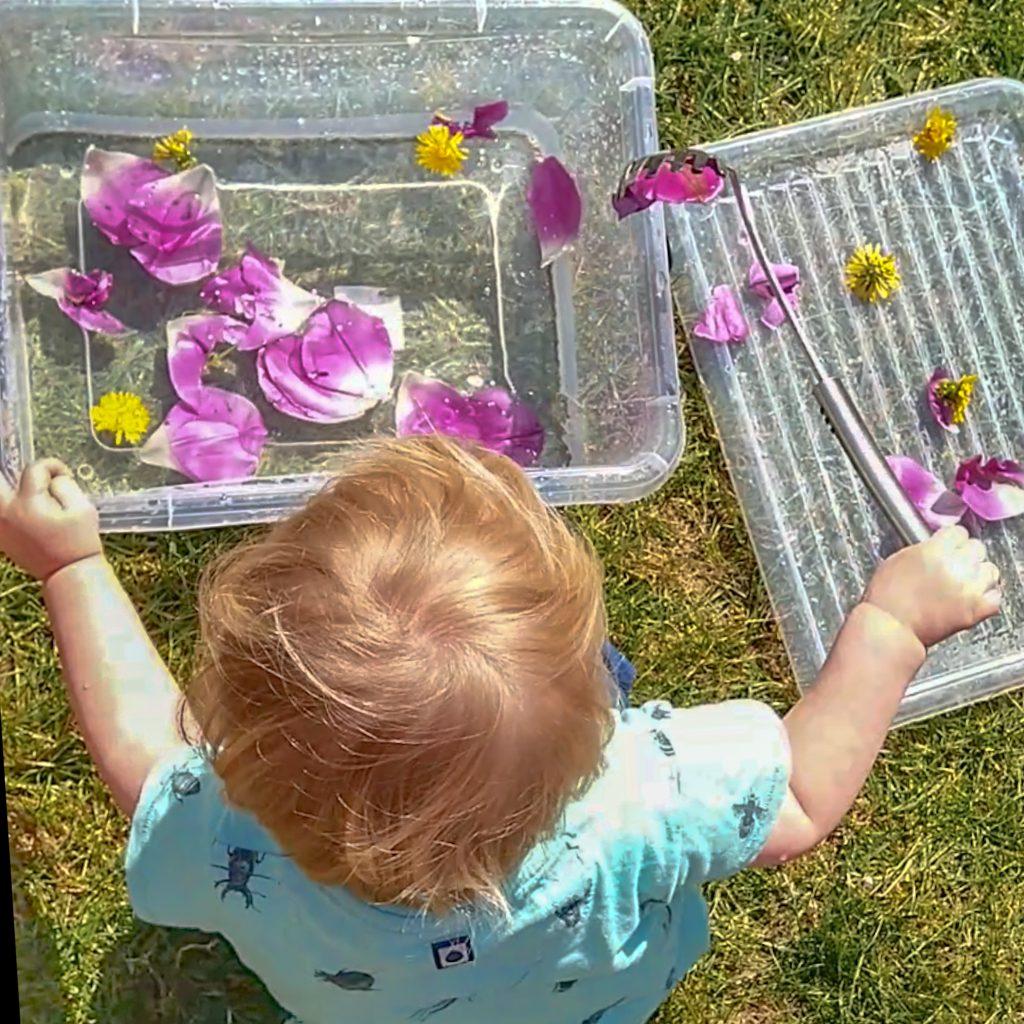 Waterspelletje voor baby's tot peuters