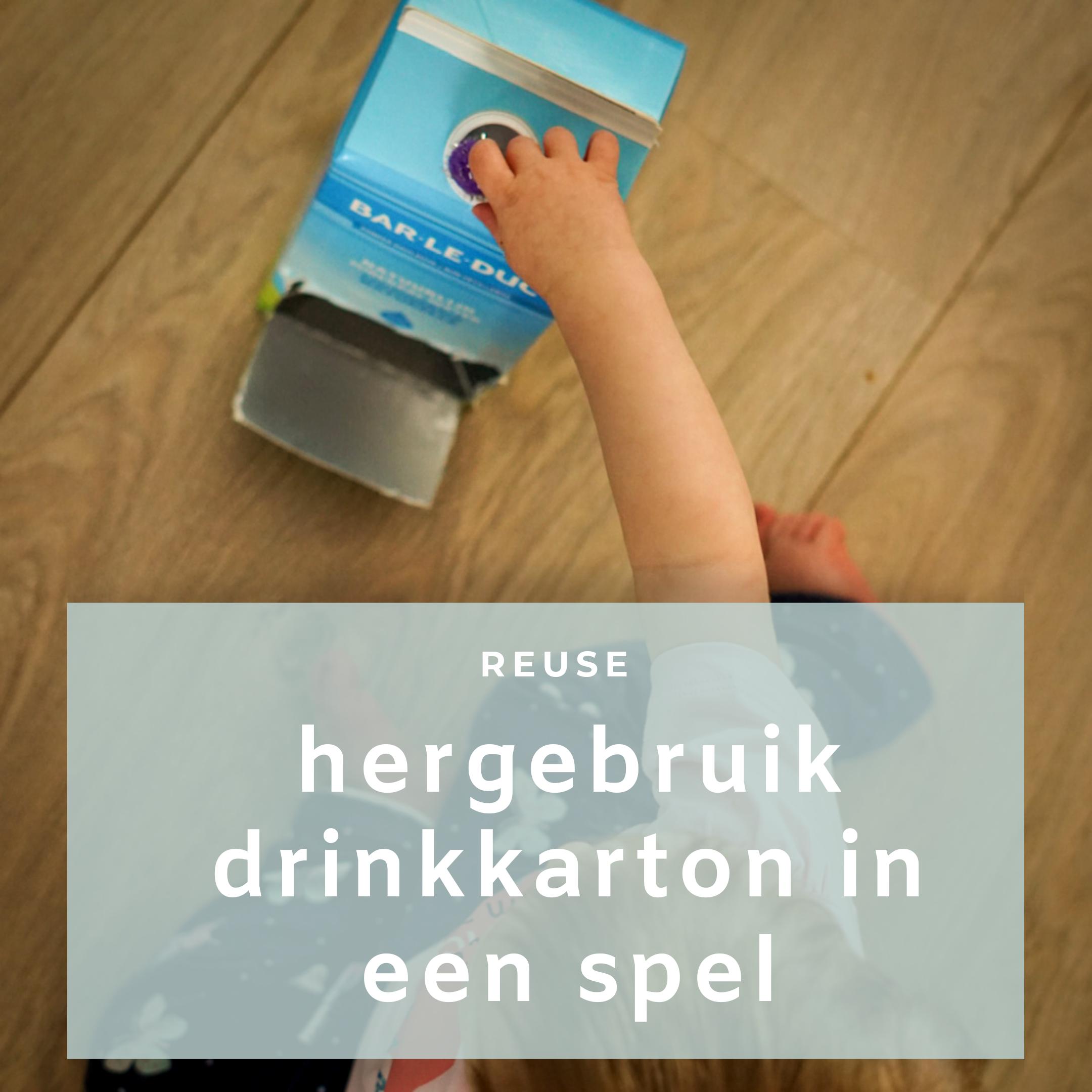 Speeltip: hergebruik een drinkkarton met dop