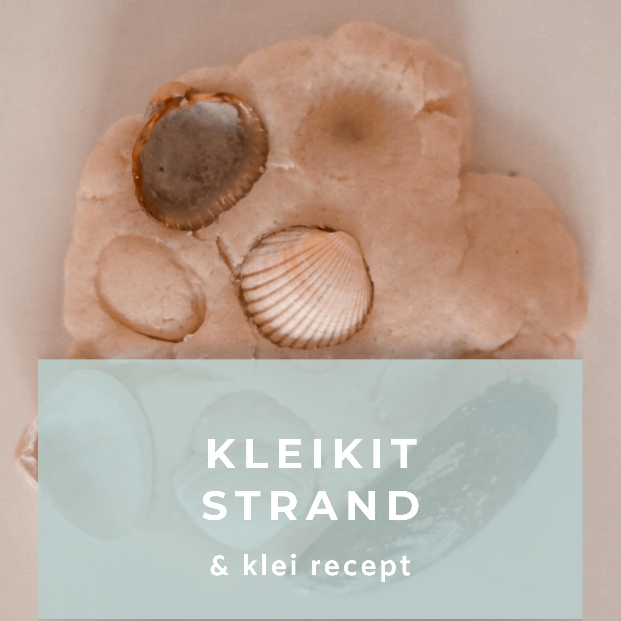 Kleikit strand inclusief klei recept