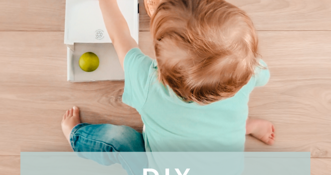 diy object permanence box