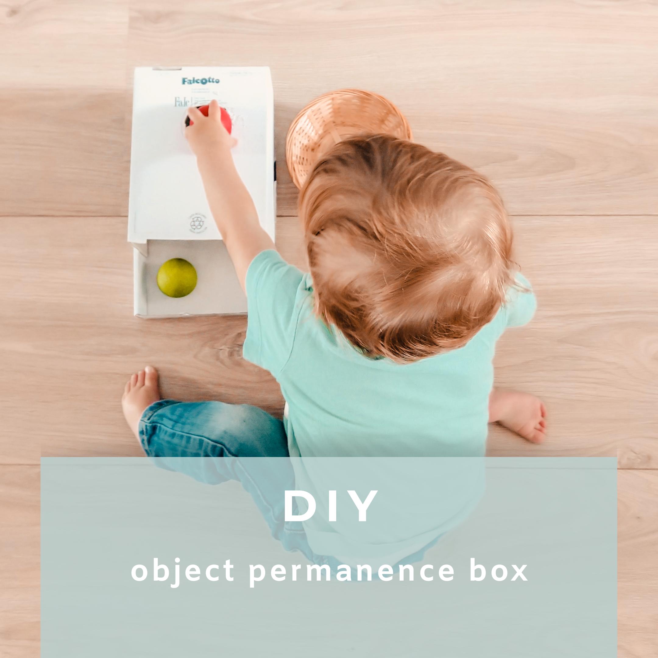 diy object permanence box