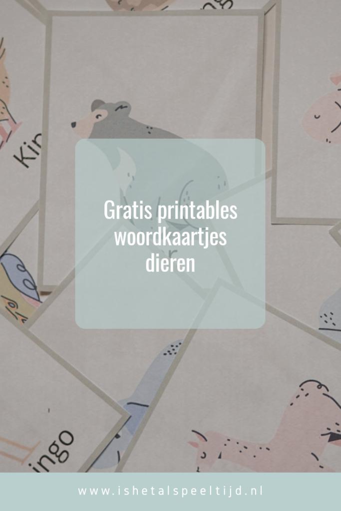 printable woordkaartjes
