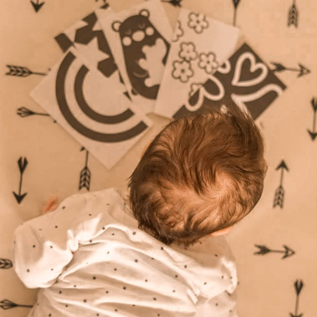 contrast kaarten sensory baby