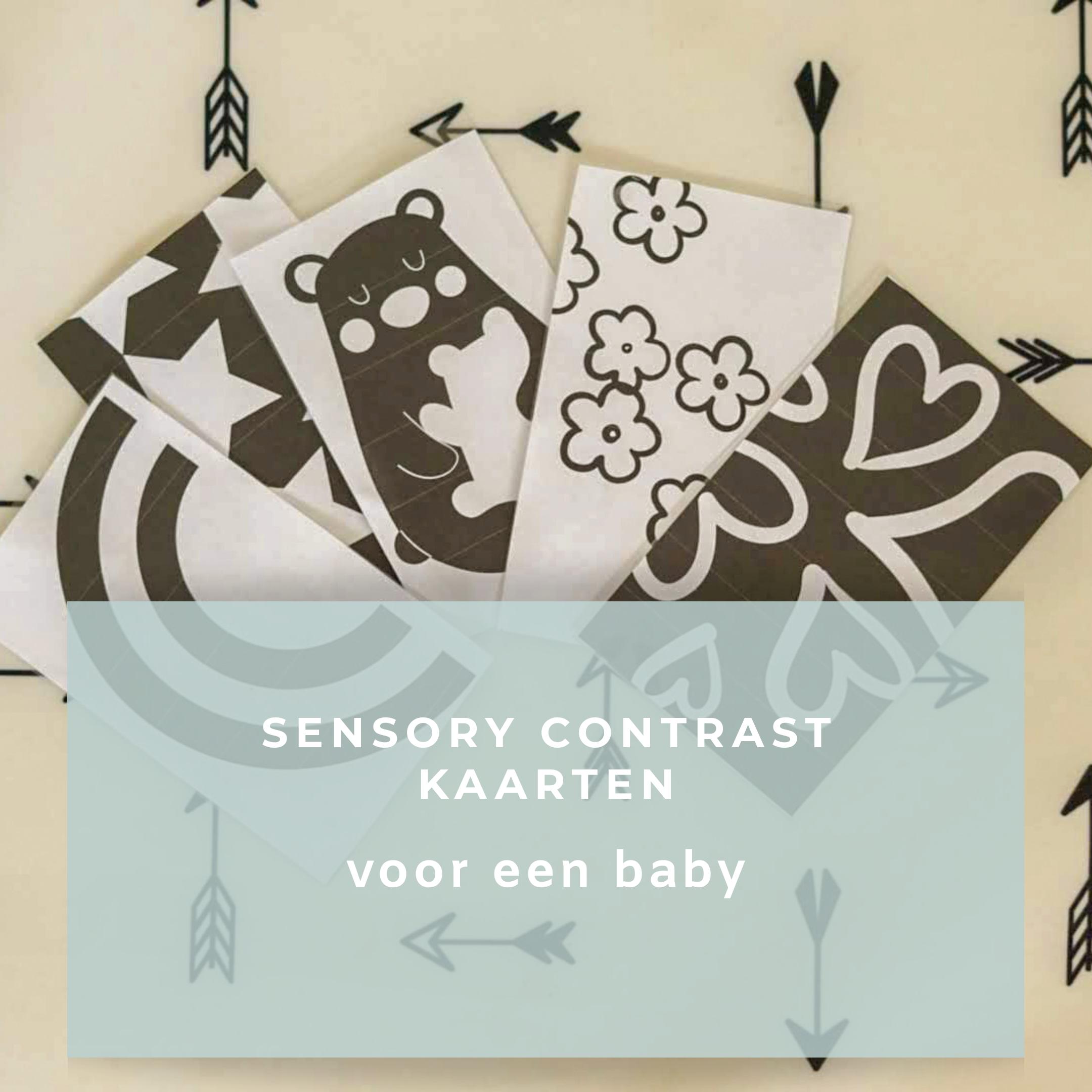 Sensory contrast kaarten voor een baby
