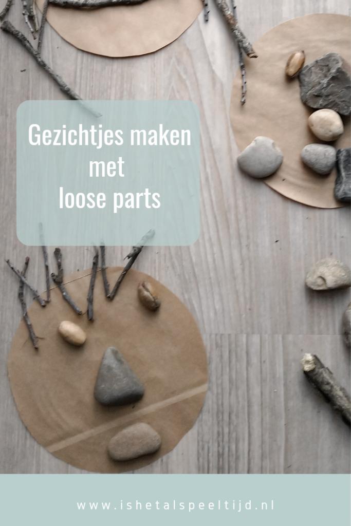 pin gezichtjes maken met loose parts
