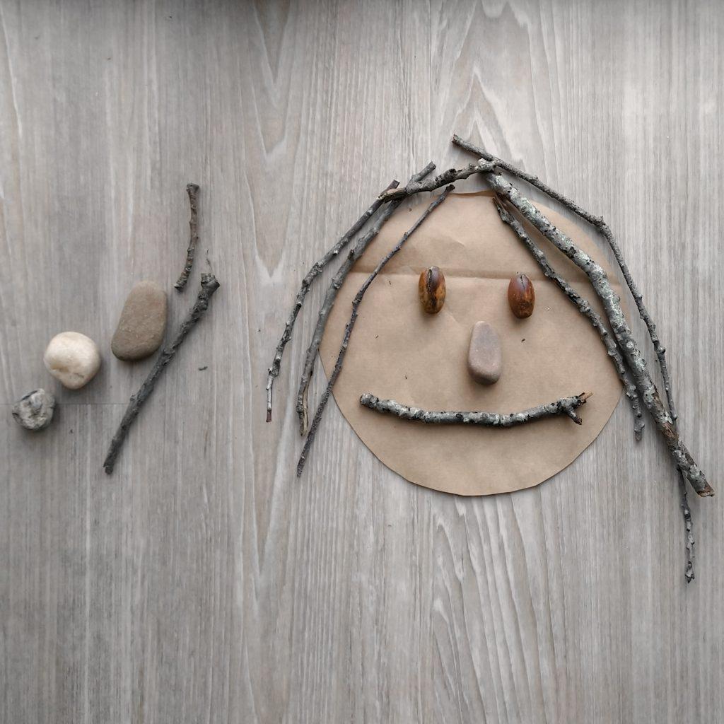 gezichtjes maken met loose parts