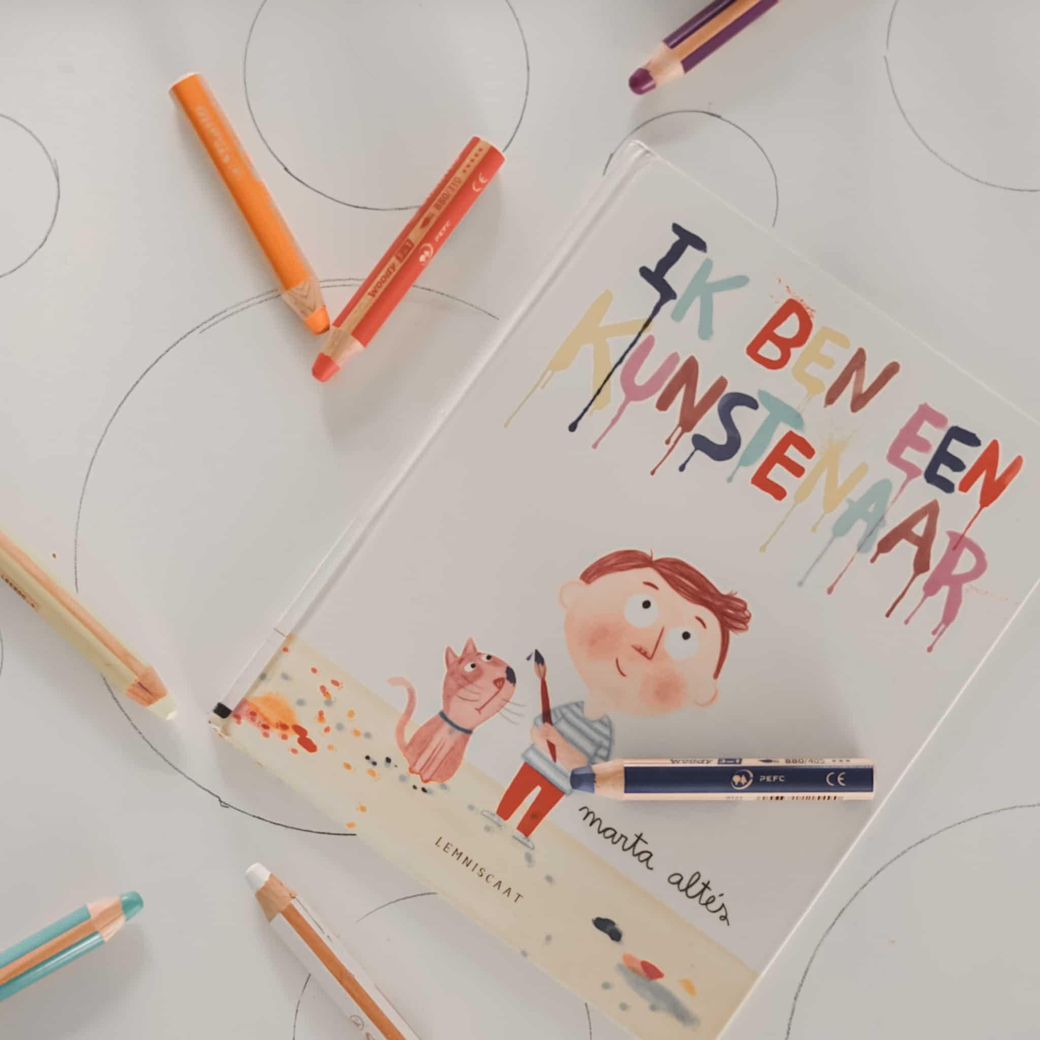 Review: Stabilo Woody potloden &  Ik ben een kunstenaar – Marta Altés